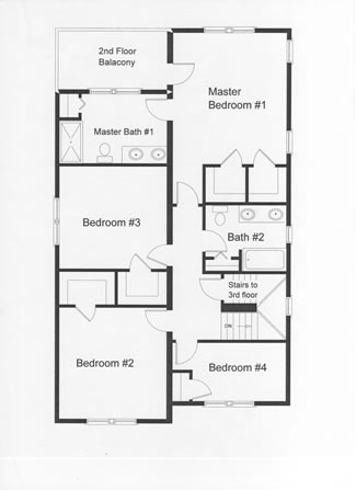 4 bedroom floor plans monmouth county ocean county new for First floor master bedroom home plans