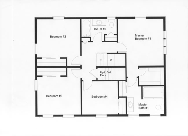 4 bedroom floor plans monmouth county ocean county new for Second floor design plans