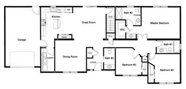 3 bedroom floor plans monmouth county ocean county new for 3 bedroom 2 bath open floor plans