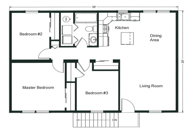 3 bedroom floor plans monmouth county ocean county new jersey rba homes. Black Bedroom Furniture Sets. Home Design Ideas