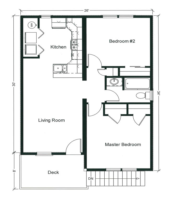 2 bedroom floor plans monmouth county ocean county new for Www house plans com