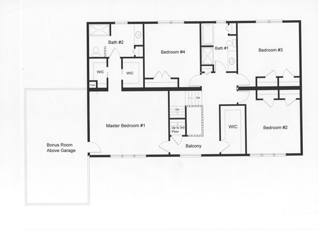 4 bedroom floor plans monmouth county ocean county new for First floor master bedroom floor plans