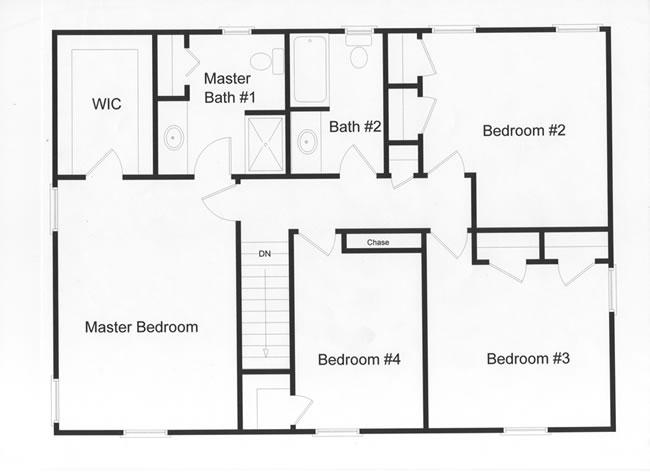4 bedroom floor plans monmouth county ocean county new Bedroom furniture layout plan