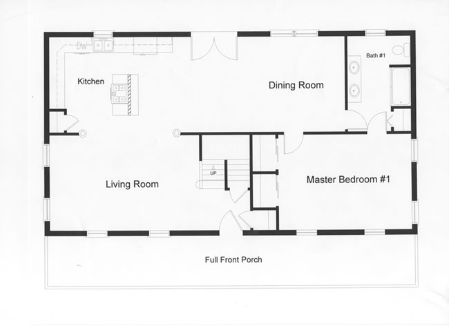 3 bedroom floor plans monmouth county ocean county new for Single story open floor plans