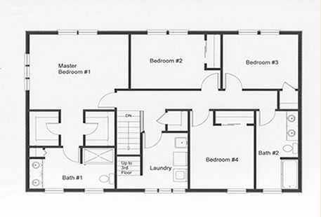 bedroom floor plans on bedroom double story house plans